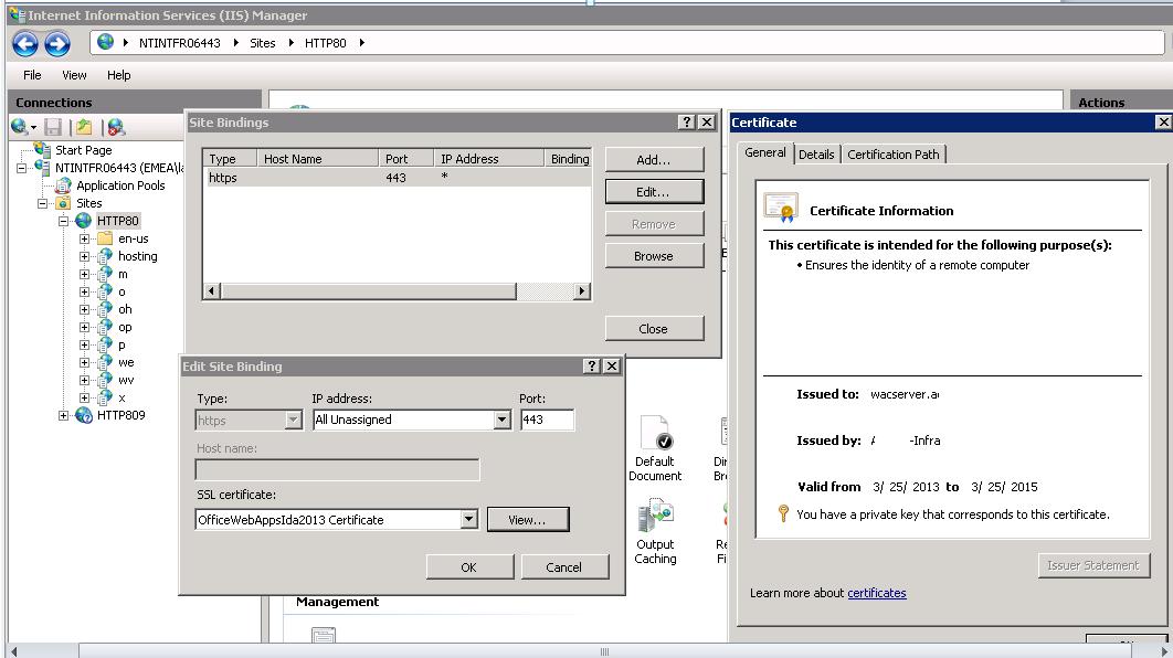 Lync 2013 : The WAC presentation failed with a server error
